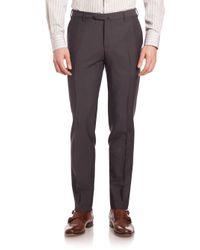 Pal Zileri - Brown Mohair Wool Dress Pants for Men - Lyst