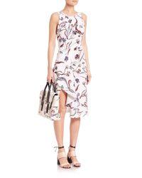 3.1 Phillip Lim | Pink Silk Floral-print Dress | Lyst