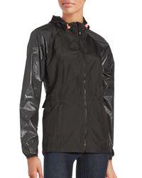 Betsey Johnson | Black Hooded Ruffle Jacket | Lyst