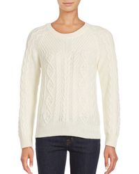 Saks Fifth Avenue | Natural Cashmere Blend Sweater | Lyst