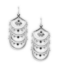 Catherine Malandrino - Metallic Arch Drop Earrings - Lyst