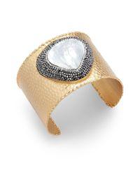 Kevia | Metallic Mother Of Pearl In 18k Gold Bracelet | Lyst