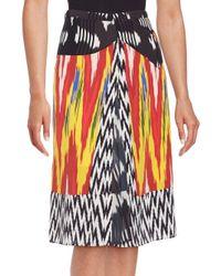 Altuzarra   Multicolor Printed Banded Waist Skirt   Lyst