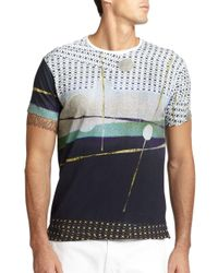 Robert Graham - Blue Baywatch Tee for Men - Lyst