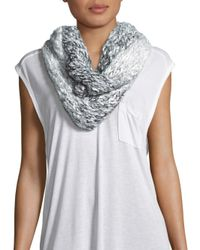 Saks Fifth Avenue | Black Infinity Ombre Knit Earth Scarf | Lyst