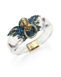 Alexis Bittar   Metallic Lucite Liquid Visage Collection Feathered Parrot Bracelet   Lyst