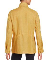 Loro Piana Yellow Solid Long Sleeve Jacket