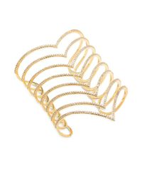 Noir Jewelry | Metallic Cuic Zirconia & 18k Gold-plated Studded Bracelet | Lyst