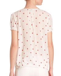 Joie | Multicolor Domingo Embroidered Cotton Blouse | Lyst