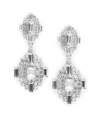 Cara | Metallic Deco Post Back Drop Earrings | Lyst