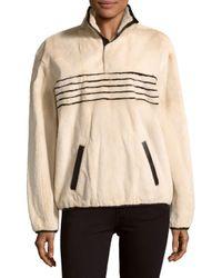 Proenza Schouler | Natural Long-sleeve Stand-collar Fur Jacket | Lyst