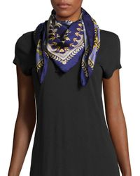 Saks Fifth Avenue | Blue Status Square Silk Scarf | Lyst