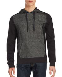 Calvin Klein Jeans | Black Colorblock Hoodie Pullover for Men | Lyst