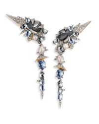 Alexis Bittar | Metallic Crystal-encrusted Mosaic Lace Dangling Clip-on Earrings | Lyst