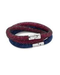 Swarovski   Blue Stardust Crystal Bracelet Two-piece Gift Set   Lyst