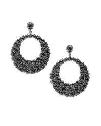 Bavna | Metallic Champagne Rose Cut Diamond, Black Spinel & Sterling Silver Earrings | Lyst