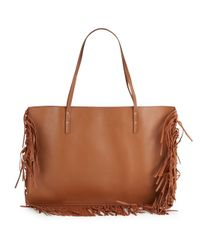 Maiyet | Natural Leather Fringe Trim Tote | Lyst