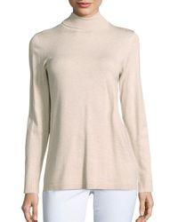 Kensie | Natural Long Sleeve Textured Pullover | Lyst