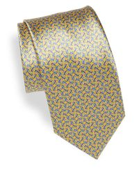 Brioni | Yellow Twist Print Silk Tie for Men | Lyst