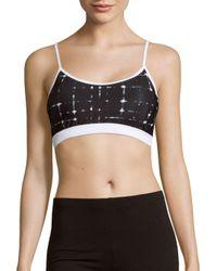 Prismsport - Black Printed Stretchable Bralette - Lyst