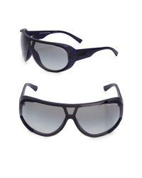 Giorgio Armani Black 80mm Rounded Matte Sunglasses