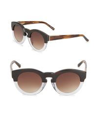 3.1 Phillip Lim - Brown 49mm Speckled Pantos Sunglasses - Lyst