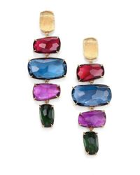 Marco Bicego | Metallic Murano Semi-precious Multi-stone & 18k Yellow Gold Drop Earrings | Lyst
