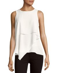 Vince Camuto | White Asymmetrical Layered Blouse | Lyst