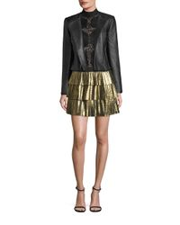 BCBGMAXAZRIA | Black Textured Leather Jacket | Lyst