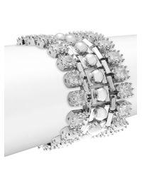 Eddie Borgo | Metallic Dome Estate Crystal Bracelet | Lyst