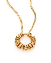 Chloé | Metallic Freja Molded Rings Pendant Necklace | Lyst