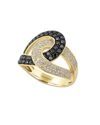 Effy - Metallic Diamond & 14k Yellow Gold Ring - Lyst