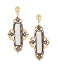 Armenta - Metallic Old World Rainbow Moonstone, Champagne Diamond, 18k Yellow Gold & Sterling Silver Earrings - Lyst