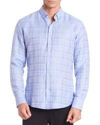 Zachary Prell - Blue Tobias Plaid Sport Shirt for Men - Lyst