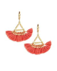 Shashi | Red Lilu 18k Gold-plated Vermeil Sterling Silver Earrings | Lyst