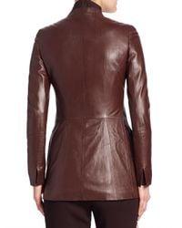 Akris Punto Multicolor Masai Braided Flo Leather Jacket