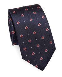Eton of Sweden - Blue Floral & Pin-dots Silk Tie for Men - Lyst