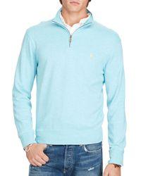 Polo Ralph Lauren - Blue Cotton Half-zip Pullover for Men - Lyst