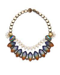 Tataborello - Purple Swarovski Crystal Necklace - Lyst