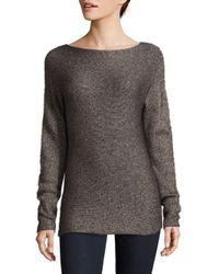 Saks Fifth Avenue - Black Melange Sweater - Lyst
