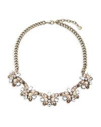 BaubleBar | Pink Floral Cluster Necklace | Lyst