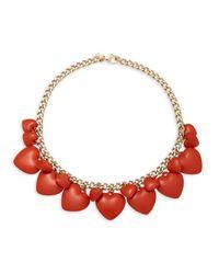 Valentino - Metallic Heart Choker Necklace - Lyst