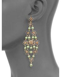 Stephen Dweck - 5mm Green Pearl & Bronze Trellis Earrings - Lyst