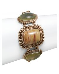 Stephen Dweck | Metallic Jasper, Crystal & Bronze Cabochon Bracelet | Lyst