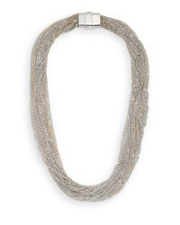 Saks Fifth Avenue | Metallic Multi-chain Necklace/silvertone | Lyst