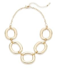 Saks Fifth Avenue | Metallic Oversized Oval Link Necklace/goldtone | Lyst