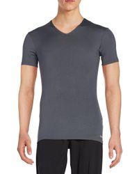 Calvin Klein | Gray V-neck Short Sleeve Tee for Men | Lyst