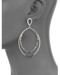 Saks Fifth Avenue - Metallic Sterling Silver Large Drop Earrings - Lyst