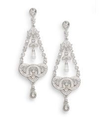 Adriana Orsini | Gray Pavà Knot Chandelier Earrings | Lyst