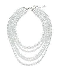 R.j. Graziano | White All In One Multi-row Necklace | Lyst